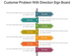 Customer Problem With Direction Sign Board