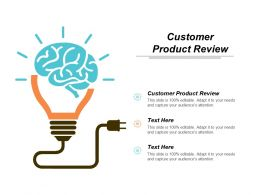 Customer Product Review Ppt Powerpoint Presentation Gallery Diagrams Cpb