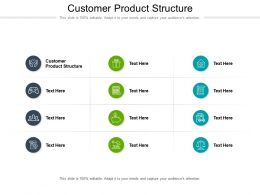Customer Product Structure Ppt Powerpoint Presentation Summary Tips Cpb