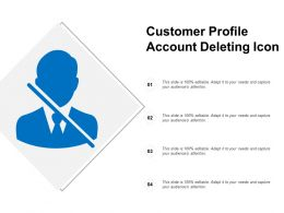 Customer Profile Account Deleting Icon