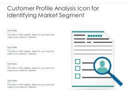 Customer Profile Analysis Icon For Identifying Market Segment