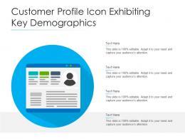 Customer Profile Icon Exhibiting Key Demographics