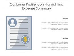 Customer Profile Icon Highlighting Expense Summary