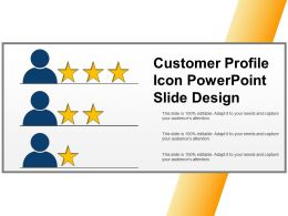 Customer Profile Icon Powerpoint Slide Design