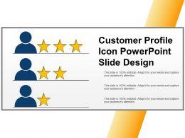 Customer Profile Icon Powerpoint Slide Design