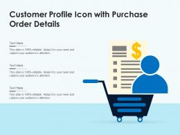 Customer Profile Icon With Purchase Order Details