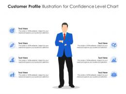 Customer Profile Illustration For Confidence Level Chart Infographic Template