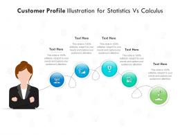 Customer Profile Illustration For Statistics Vs Calculus Infographic Template