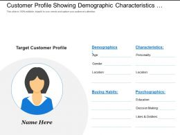 Customer Profile Showing Demographic Characteristics Buying Habits
