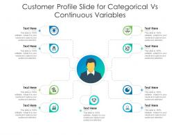 Customer Profile Slide For Categorical Vs Continuous Variables Infographic Template