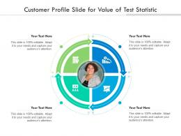 Customer Profile Slide For Value Of Test Statistic Infographic Template