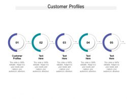 Customer Profiles Ppt Powerpoint Presentation Pictures Files Cpb