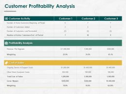 Customer Profitability Analysis Ppt Powerpoint Presentation Ideas Template