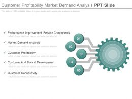 Customer Profitability Market Demand Analysis Ppt Slide