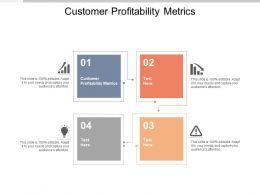 Customer Profitability Metrics Ppt Powerpoint Presentation Portfolio Deck Cpb