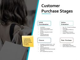 Customer Purchase Stages Active Evaluation Ppt Powerpoint Presentation File Show