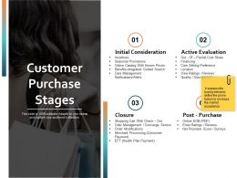 Customer Purchase Stages Ppt Powerpoint Presentation File Picture
