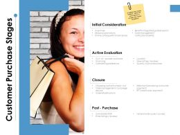 Customer Purchase Stages Ppt Powerpoint Presentation Model Layouts