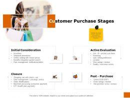 Customer Purchase Stages Ppt Powerpoint Presentation Slides Slideshow