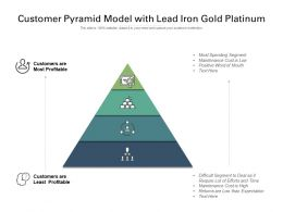 Customer Pyramid Model With Lead Iron Gold Platinum