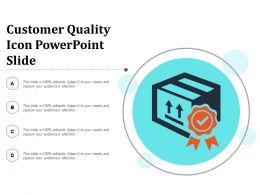 Customer Quality Icon Powerpoint Slide