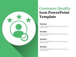 Customer Quality Icon Powerpoint Template