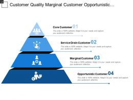 Customer Quality Marginal Customer Opportunistic Customer Pyramid Shaped