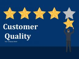 Customer Quality Service Drain Customers Sales Volume Cost To Serve