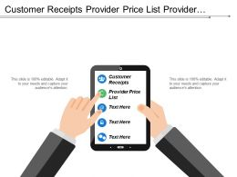 Customer Receipts Provider Price List Provider Billing Order Bills