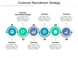 Customer Recruitment Strategy Ppt Powerpoint Presentation File Rules Cpb