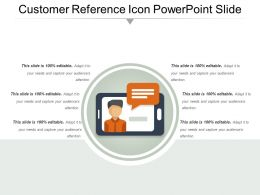 Customer Reference Icon Powerpoint Slide