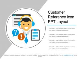 Customer Reference Icon Ppt Layout