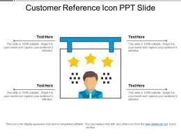 Customer Reference Icons Ppt Slide