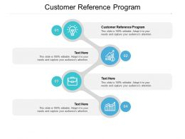 Customer Reference Program Ppt Powerpoint Presentation Model Diagrams Cpb