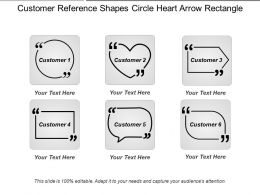 Customer Reference Shapes Circle Heart Arrow Rectangle