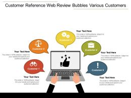 Customer Reference Web Review Bubbles Various Customers