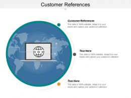 Customer References Ppt Powerpoint Presentation Gallery Topics Cpb