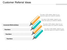 Customer Referral Ideas Ppt Powerpoint Presentation Gallery Graphics Cpb