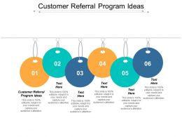 Customer Referral Program Ideas Ppt Powerpoint Presentation Infographics Rules Cpb