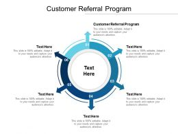 Customer Referral Program Ppt Powerpoint Presentation File Slideshow Cpb