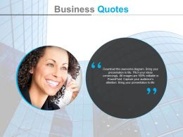 Customer Relation Management Business Quotes Powerpoint Slides