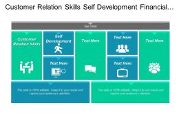 Customer Relation Skills Self Development Financial Management Planning Cpb