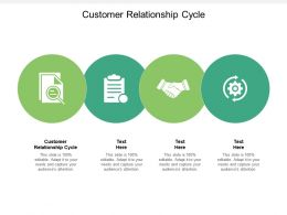 Customer Relationship Cycle Ppt Powerpoint Presentation Gallery Brochure Cpb