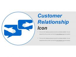 Customer Relationship Icon Sample Of Ppt