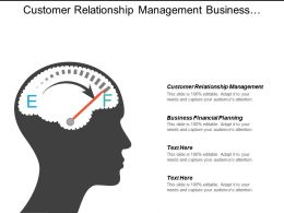 Customer Relationship Management Business Financial Planning Ecommerce Management Cpb