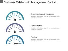 Customer Relationship Management Capital Budgeting Project Management Import Export Cpb