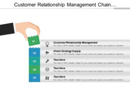Customer Relationship Management Chain Strategy Supply Media Event Cpb