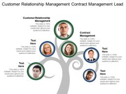 Customer Relationship Management Contract Management Lead Trekking Opportunity Tracking
