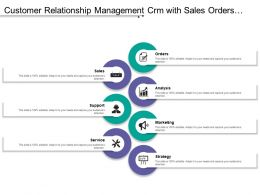 Customer Relationship Management Crm With Sales Orders Analysis Marketing Strategy And Service
