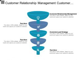 Customer Relationship Management Customer Lead Strategy Business Organization Cpb